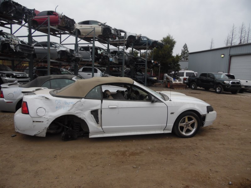 2003 Ford Mustang Gt White Conv 4 6l At F17017