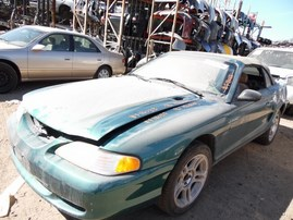 1996 FORD MUSTANG GT CONVERTIBLE GREEN 4.6L MT F18033