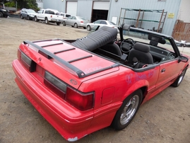 1992 FORD MUSTANG GT RED CONVERTIBLE 5.0L AT  F17001