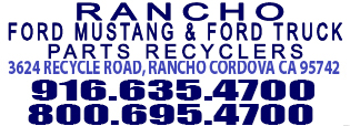 Rancho Used Mustang Parts 3624 recycle road, rancho cordova ca 95742